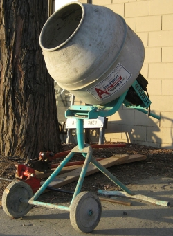Used Equipment Sales 2 1 2  CU FT TRIPOD ELEC CONCRETE MIXER in Hollister CA
