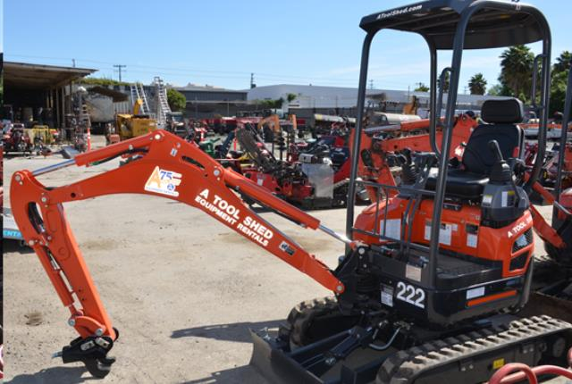 Where to find 1 1 2 TON COMPACT EXCAVATOR in Hollister