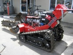 Used Equipment Sales WALK BEHIND TRACK TRENCHER, 36  DEPTH in Hollister CA