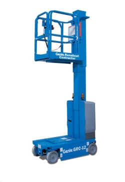 Rental store for 12  ELECTRIC VERTICAL MAST LIFT RUNABOUT in Hollister CA